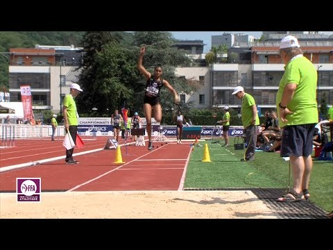 Aix-les-Bains 2018 : Triple saut F (Rouguy Diallo avec 14.15 m) (видео)
