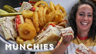 Turkey Club Sandwich & Perfect Onion Rings - The Cooking Show by Munchies
