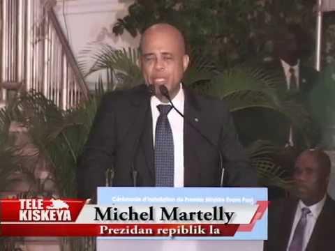 Investiture du Premier Ministre Evans Paul par le Président Michel Martelly