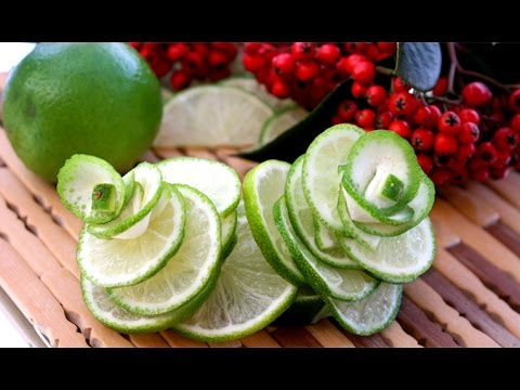 Art In Lime Rose Flower | Fruit Carving Garnish | Food Decoration | Party Garnishing