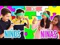 ¡Niños vs Niñas! / CONSTRUYE A CIEGAS CHALLENGE - Gibby :)