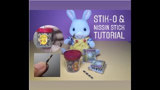 DIY FOOD MINIATURE FOR DOLL | STIK-O AND NISSIN STICK MINIATURE