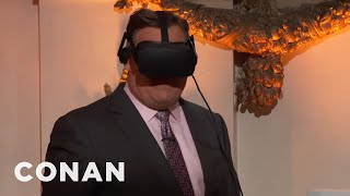 Andy Richter straps on a VR headset to see #ConanCon from every angle. Thx 2 AT&TMore CONAN @ http://teamcoco.com/videoTeam Coco is the official YouTube channel of late night host Conan O'Brien, CONAN on TBS & TeamCoco.com. Subscribe now to be updated on the latest videos: http://bit.ly/W5wt5DFor Full Episodes of CONAN on TBS, visit http://teamcoco.com/videoGet Social With Team Coco:On Facebook: https://www.facebook.com/TeamCocoOn Google+: https://plus.google.com/+TeamCoco/On Twitter: http://twitter.com/TeamCocoOn Tumblr: http://teamcoco.tumblr.comOn YouTube: http://youtube.com/teamcocoFollow Conan O'Brien on Twitter: http://twitter.com/ConanOBrien