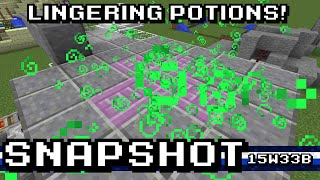 Minecraft: 1.9 Snapshots - Fun with Lingering Potions!