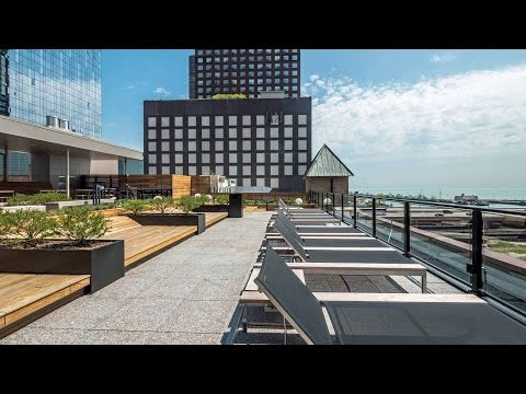 Tour the fabulous roof deck at The Lofts at River East