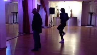 Mickael Dancer rehearses Beat it with Michael Jackson dancer LaVelle Smith Jr.