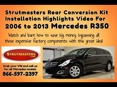 Instructions For A Rear Air Spring Conversion On A Mercedes R 350 By Strutmasters