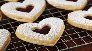 Raspberry White Chocolate Shortbreads Recipe Demonstration - Joyofbaking.com - YouTube