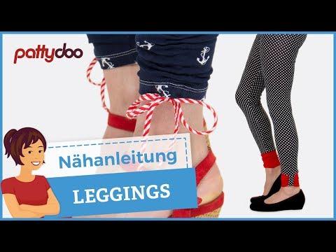 Leggings ganz einfach selber nähen - Schnittmuster für Damen und Kinder