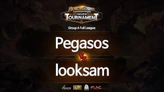 하스스톤 인벤 토너먼트 1회 5라운드 Pegasos VS looksam
