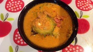 Pavakkai puli kulambu or bitter gourd tamarind curry