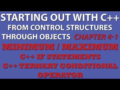 C++ Programming Challenge 4-1: Minimum/Maximum (C++ Ternary Conditional Operator, C++ Conditional Statements)
