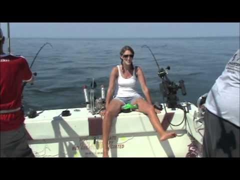 Salmon Trout Fishing Lake Ontario with ReelSilver Charters