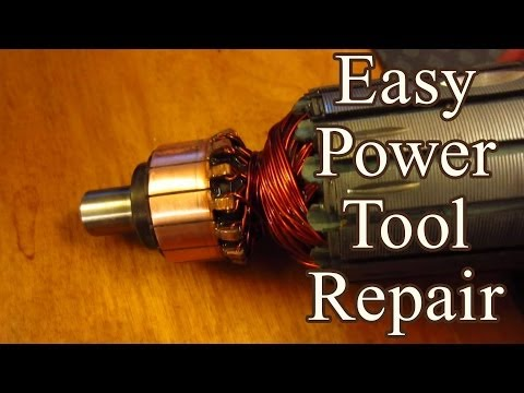 Easy Power Tool Fix: Burnt Commutator
