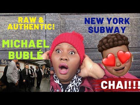 MICHAEL BUBLÉ - NEW YORK SUBWAY   A CAPELLA   REACTION VIDEO