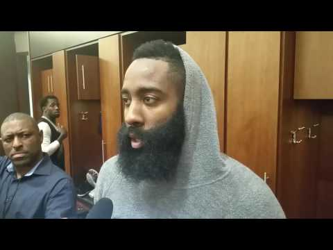 James Harden after Rockets surprising home loss to Indiana