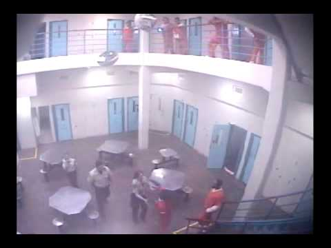 Marathon County Jail attack: Fredrick Morris punches Corrections Officer Julie Christiansen 3/27/13.  VIDEO: Marathon County (WI) Sheriff's Department