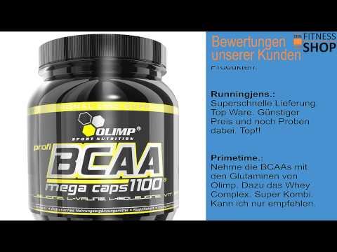 Olimp BCAA Mega Caps - Test, Erfahrungen und Einnahme der BCAA Kapseln