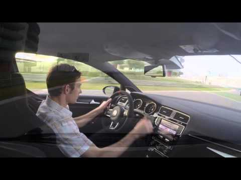 VW Golf GTI Clubsport versus Golf R at Portimao