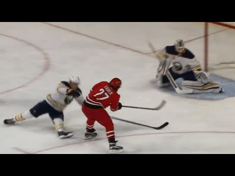 Video: Faulk restores two-goal lead for Hurricanes