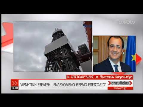 Ν. Χριστοδουλίδης: Κανένας λογικά σκεπτόμενος δεν μπορεί να προσεγγίζει θερμό επεισόδιο|07/01/20|ΕΡΤ