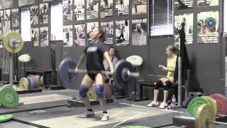 Daily Training 11-27-14 - Sam snatch Thomas power snatch + OHS Stephanie snatch - Catalyst Athletics Olympic Weightlifting Videos
