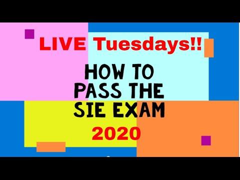 How to pass the SIE Exam Live Q & A Tuesdays!!