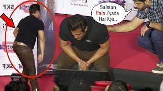 Video Salman Khan Suffers From Severe Back Pain At Race 3 Trailer Launch Event MP3, 3GP, MP4, WEBM, AVI, FLV Agustus 2018