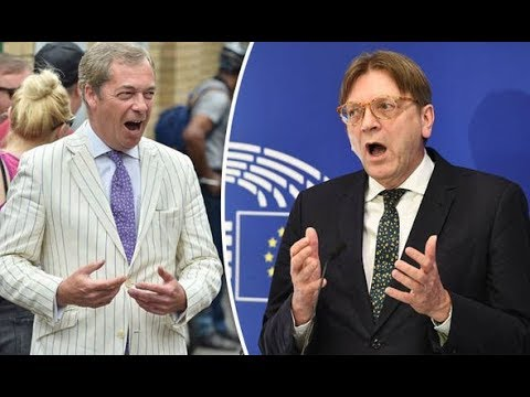 Nigel Farage And Guy Verhofstadt Clash Over Eu Army To Face Russia