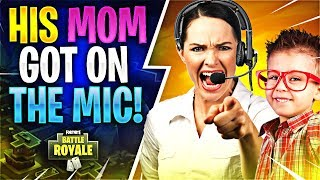 Video HIS MOM GOT ON THE MIC! (Fortnite Battle Royale) MP3, 3GP, MP4, WEBM, AVI, FLV Oktober 2018