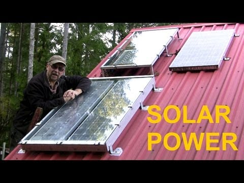solar - My simple ad hoc/hybrid solar power system, assembled on a budget over time. Reliable and easy to maintain.