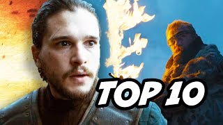 Game Of Thrones Season 7 Episode 5 Eastwatch TOP 10 Q&A. Jon Snow and Daenerys, Dragons, Cersei Baby, R+L=J Rhaegar ...