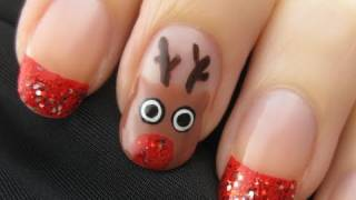 Cute Reindeer Nail Art - YouTube
