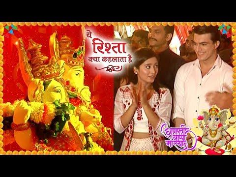 Shivangi Joshi And Mohsin Khan Perform Ganesh Pooj