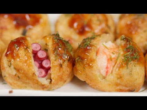 Takoyaki And Ebiyaki Recipe | Cooking With Dog