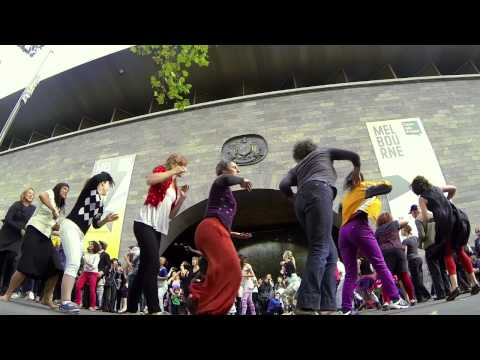 Melbourne Djembe – Flash Mob – NGV 2014