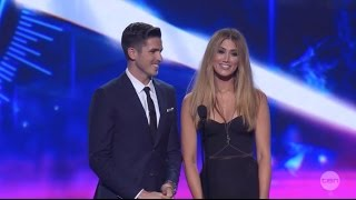 Delta Goodrem presents Song of the Year at the 2014 ARIA Awards to 5SOS