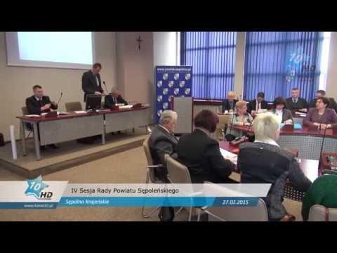 IV Sesja Rady Powiatu Sępoleńskiego, 27.02.2015 r.
