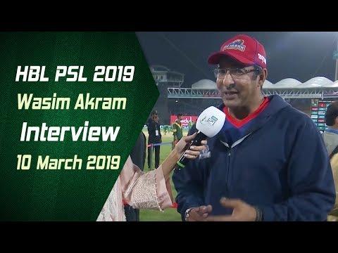 Wasim Akram Interview | 10 March | HBL PSL 2019 - Thời lượng: 2 phút, 15 giây.