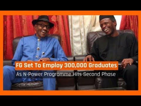 Nigeria News Today: N Power Scheme - FG Set To Employ 300,000 Graduates (22/11/2017)