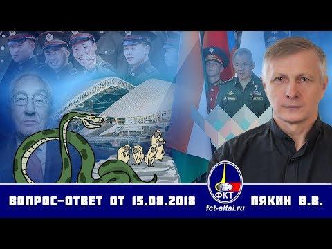Валерий Пякин. Вопрос-Ответ от 15 августа 2018 г. - DomaVideo.Ru