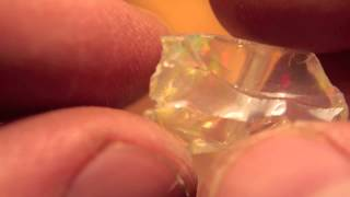 10.9ct Beautiful Water Clear Welo Ethiopia Crystal Opal Rough