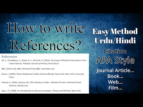How to write References?   Thesis Writing   Research Paper   Easy Lecture in Hindi / Urdu