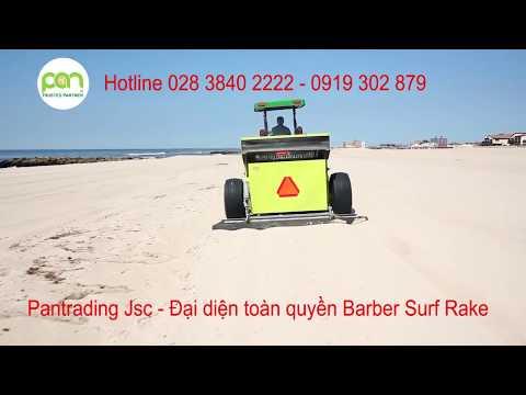 Xe vệ sinh bãi biển Barber Surf Rake