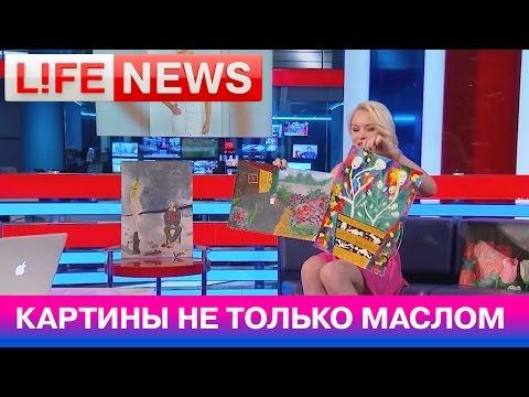 Порноактриса Лола Тейлор в студии LifeNews