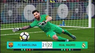 Video PES 2018 | goalkeeper L.MESSI vs goalkeeper C.RONALDO | Penalty Shootout | Barcelona vs Real Madrid MP3, 3GP, MP4, WEBM, AVI, FLV Desember 2018