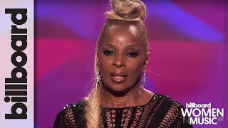 Mary J Blige Accepts Icon Award & Vows to Fight For Every Woman at Billboard's Women in Music 2017