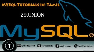 MYSQL Tutorials In Tamil 29 UNION