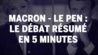 Video Présidentielle 2017 : le débat entre Emmanuel Macron et Marine Le Pen résumé en 5 minutes MP3, 3GP, MP4, WEBM, AVI, FLV Oktober 2017
