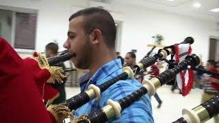 Palestinian Bagpipers Back Scottish Independence Bid